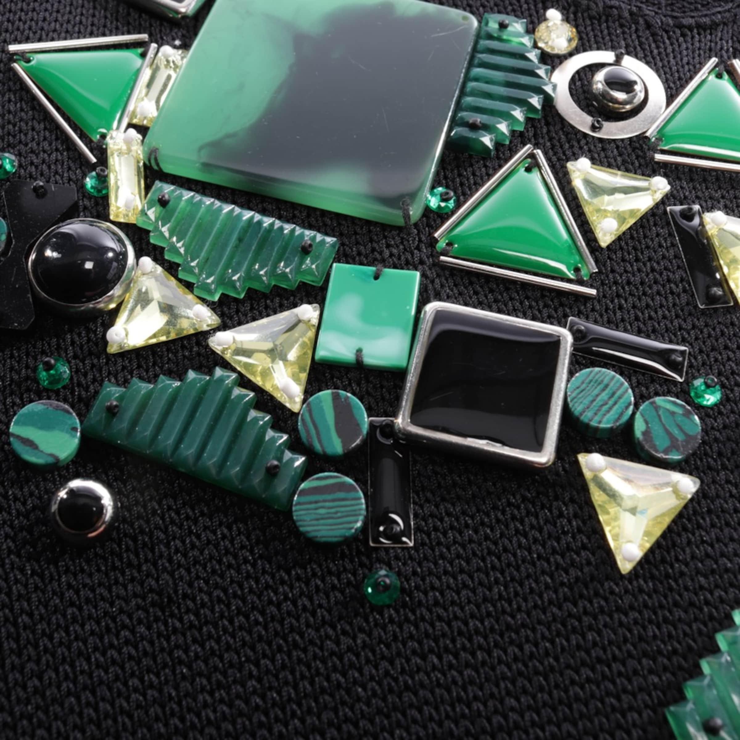 Diane von Furstenberg Strickkleid in grün / schwarz