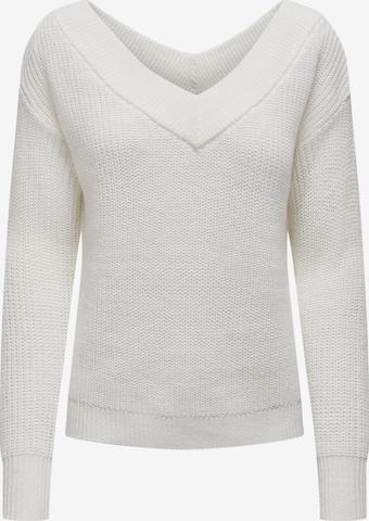 ONLY Neulepaita 'Melton' värissä valkoinen