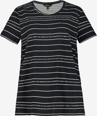 Ulla Popken T-Shirt in schwarz / weiß, Produktansicht
