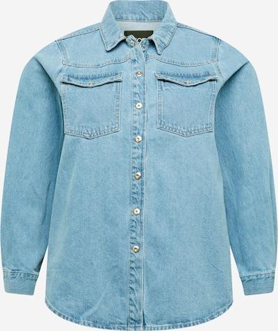 PIECES Curve Blouse 'GRAY' in de kleur Blauw denim, Productweergave