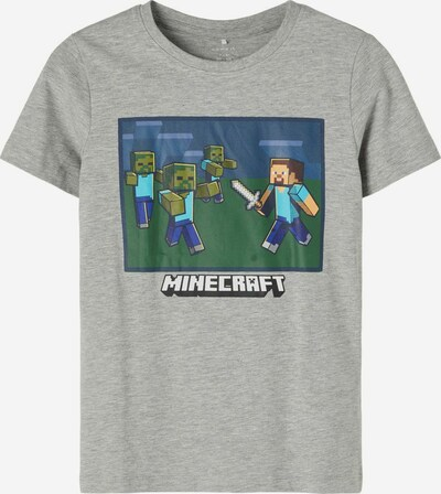 NAME IT T-Shirt in hellblau / dunkelblau / graumeliert / dunkelgrün, Produktansicht