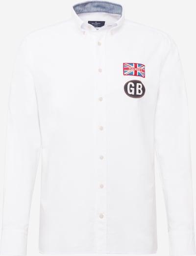 Hackett London Košeľa - modrá / hnedá / grenadínová / biela, Produkt