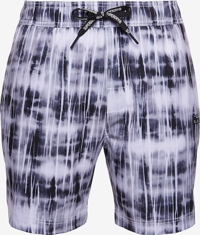 Superdry Boardshorts in de kleur Blauw / Wit, Productweergave