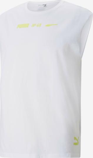 PUMA Shirt in neongelb / weiß, Produktansicht