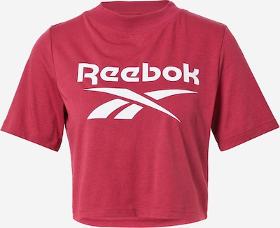 Tricou Reebok Classics pe roșu cranberry / alb, Vizualizare produs