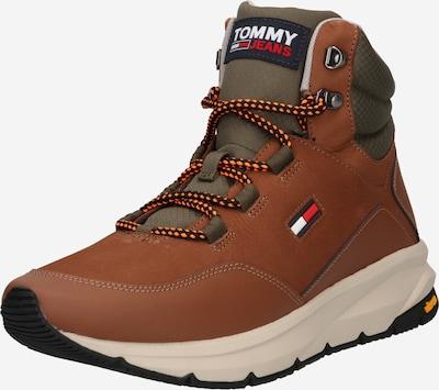 Tommy Jeans Schnürboots in cognac / grau, Produktansicht