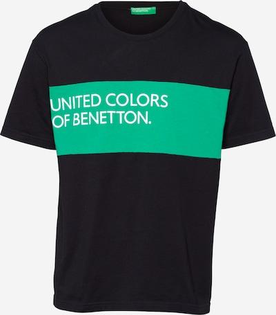 UNITED COLORS OF BENETTON Shirt in jade / schwarz, Produktansicht