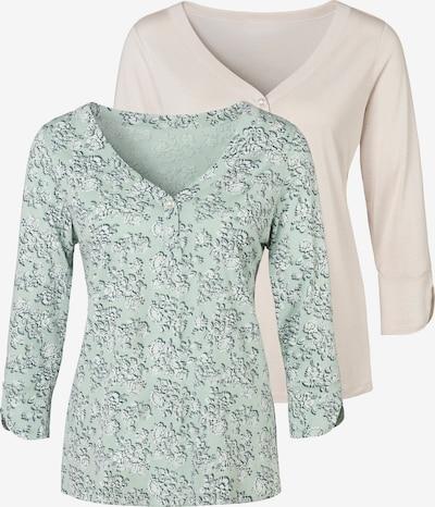 LASCANA Shirt in beige / petrol / mint / weiß, Produktansicht