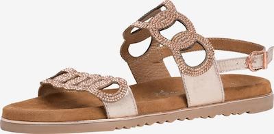 Sandale cu baretă MARCO TOZZI pe auriu - roz, Vizualizare produs