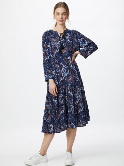Masai Kleid 'Nari' in royalblau / mischfarben, Modelansicht