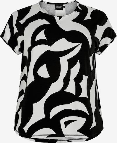 GOZZIP Shirt in schwarz / weiß: Frontalansicht