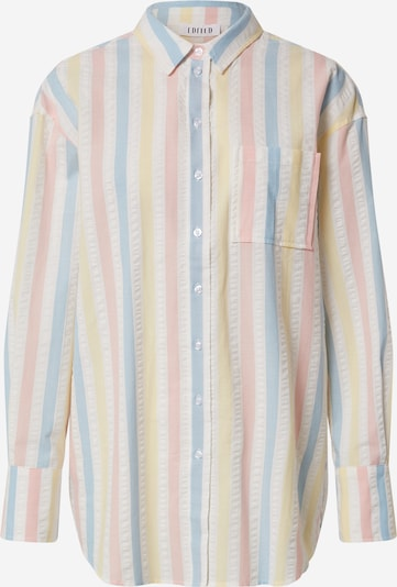 Bluză 'Gianna' EDITED pe albastru deschis / galben deschis / roz / alb natural, Vizualizare produs
