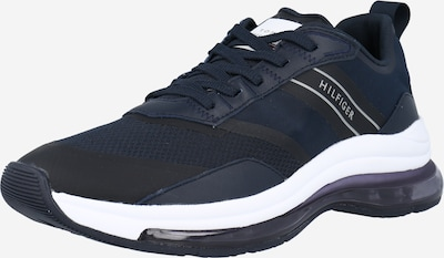 TOMMY HILFIGER Zemie brīvā laika apavi 'AIR RUNNER' tumši zils / melns / balts, Preces skats