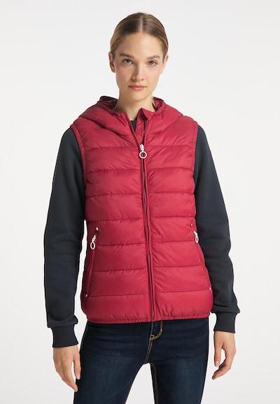 DreiMaster Maritim Weste in rot, Modelansicht