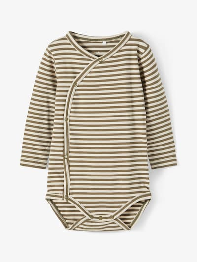 NAME IT Pijama entero/body en verde claro / blanco, Vista del producto