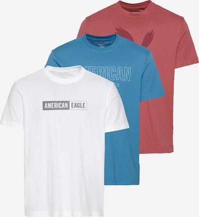 American Eagle Majica 'GRAPHICS - OPT 2' | modra / rdeča / bela barva: Frontalni pogled