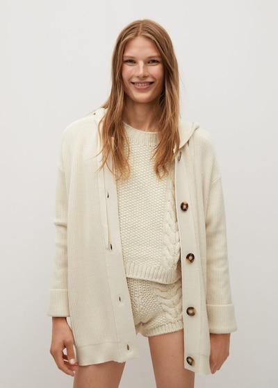 MANGO Manteau en tricot 'Phoebe' en nude, Vue avec modèle