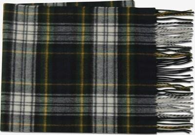 MJM Schal 'Torino' in limone / tanne / schwarz / weiß, Produktansicht