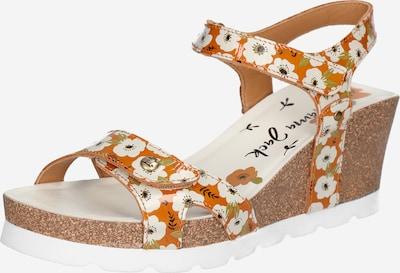 PANAMA JACK Sandalen met riem 'Julia Garden' in de kleur Geel / Olijfgroen / Poederroze / Zwart / Wit, Productweergave