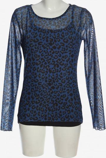 ONE MORE STORY Langarm-Bluse in M in blau / schwarz, Produktansicht