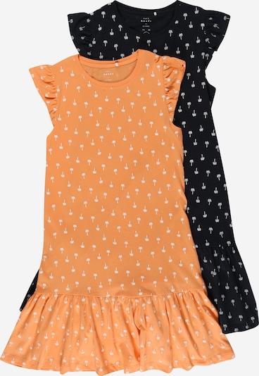 NAME IT Kleid 'VIDA' in dunkelblau / koralle / weiß, Produktansicht
