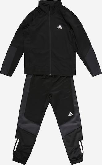 ADIDAS PERFORMANCE Trainingspak in de kleur Donkergrijs / Zwart / Wit, Productweergave