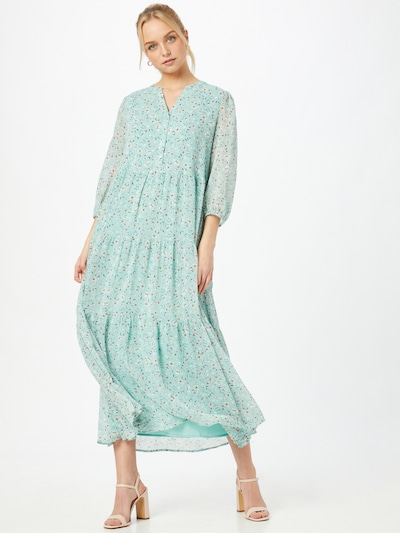 ESPRIT Obleka | turkizna / rumena / bela barva, Prikaz modela