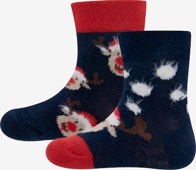 EWERS Socken 'Elch' in beige / navy / braun / rot / weiß, Produktansicht