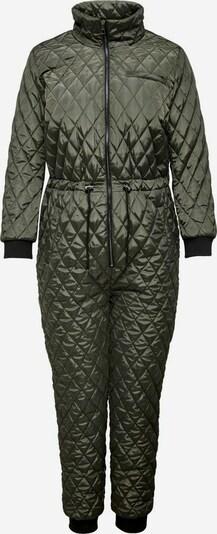 ONLY Carmakoma Jumpsuit in khaki / schwarz, Produktansicht