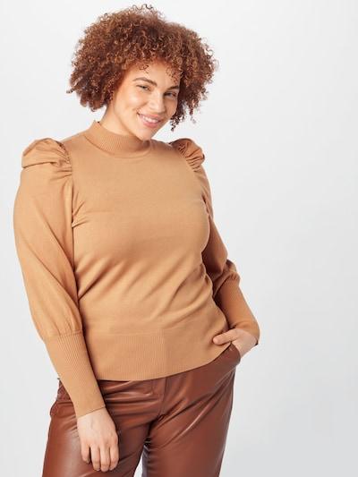 Dorothy Perkins Curve Blouse in de kleur Camel, Modelweergave