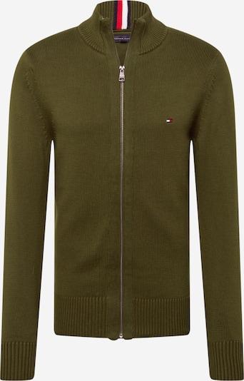 TOMMY HILFIGER Gebreid vest in de kleur Navy / Olijfgroen / Wit, Productweergave