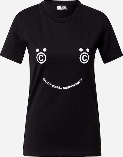 DIESEL T-Shirt 'SILY' ' in schwarz / weiß, Produktansicht