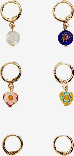MANGO Boucles d'oreilles 'Zero' en or / mélange de couleurs, Vue avec produit