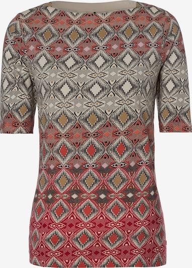 Olsen Shirt in braun / grau / rot, Produktansicht
