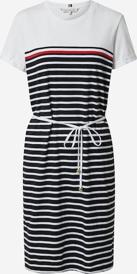 TOMMY HILFIGER Kleid in rot / schwarz / weiß, Produktansicht