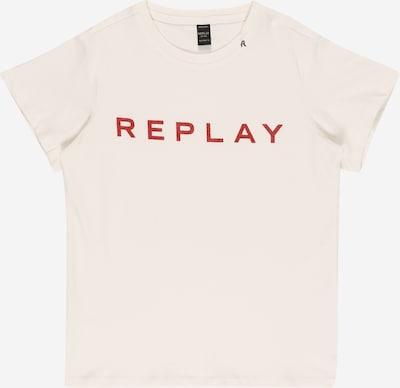 REPLAY Shirt in rot / wollweiß, Produktansicht