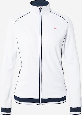 FILA Αθλητική ζακέτα φούτερ 'Sophia' σε λευκό