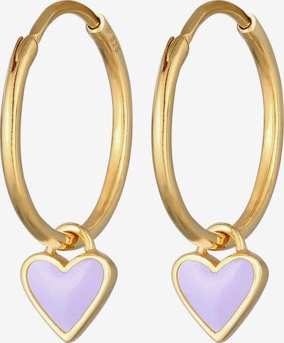 ELLI Oorbellen in de kleur Goud / Pastellila, Productweergave