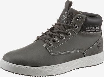 Dockers by Gerli Lace-Up Boots in Grey
