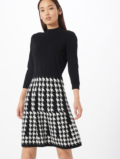 HUGO Úpletové šaty 'Sieny' - černá / bílá, Model/ka