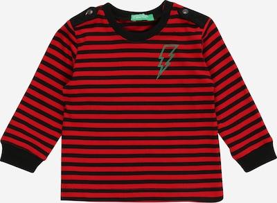 UNITED COLORS OF BENETTON Shirt in rot / schwarz, Produktansicht