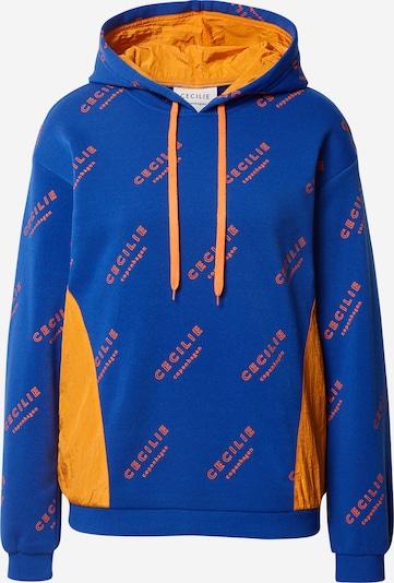 Cecilie Copenhagen Sweater majica 'Anaia' u plava / narančasta, Pregled proizvoda