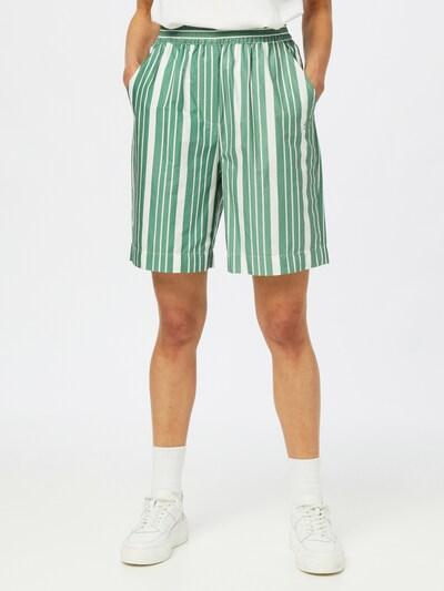 Esmé Studios Pantalon 'Eva' en vert / blanc, Vue avec modèle