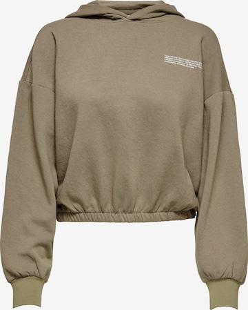 ONLY Sweatshirt 'Cooper' in Brown
