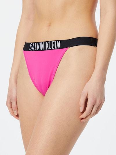 Calvin Klein Swimwear Braga de bikini en rosa / negro / blanco, Vista del modelo