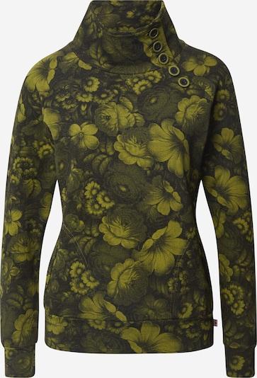 Blutsgeschwister Sweatshirt 'Oh So Nett' in limette / dunkelgrün, Produktansicht