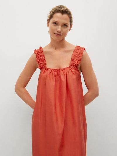 MANGO Kleid 'Delos' in orangerot, Modelansicht