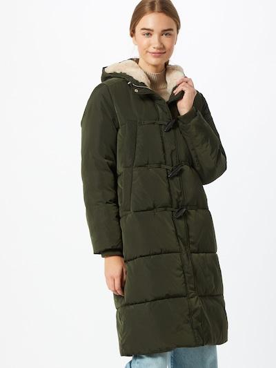 Žieminis paltas iš s.Oliver , spalva - rusvai žalia, Modelio vaizdas