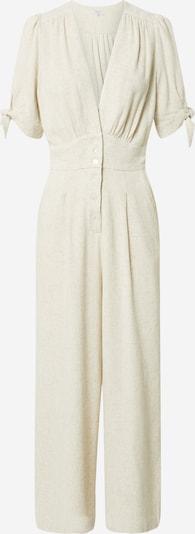 Tuta jumpsuit 'COMBINAISON' FRNCH PARIS di colore crema, Visualizzazione prodotti