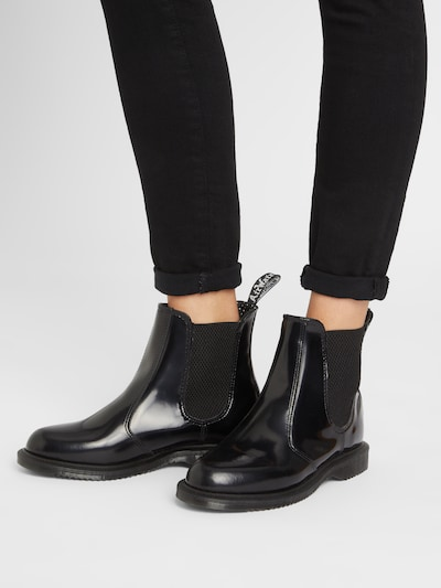 Dr. Martens Chelsea Boots 'Flora' in Black: Frontal view
